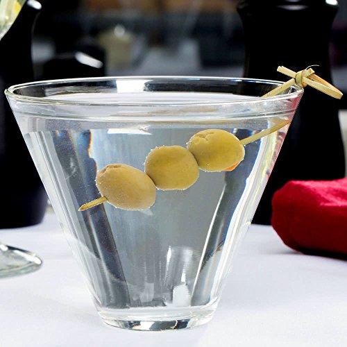Libbey 224 Stemless 135 oz Martini Glass  SET of 6 w FDL Party Picks