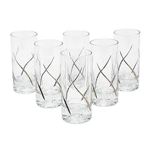 Glazze Crystal RMC-066-PL 24K Platinum Set of 6 Highball glasses 6H