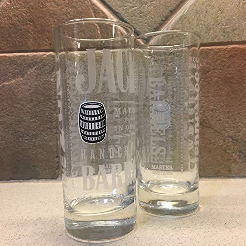 Jack Daniels Barrel Highball Glasses Set of 2