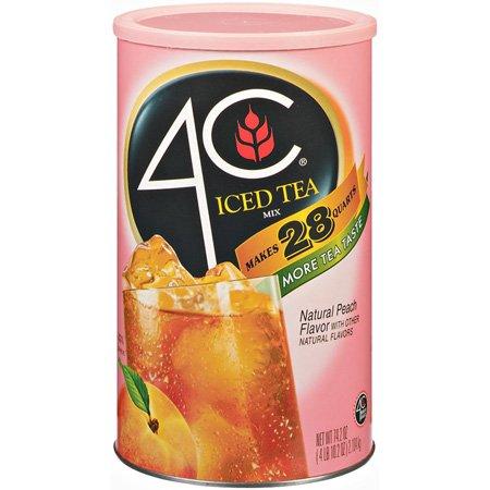 4C Iced Tea Mix - Peach - 28qt by 4C