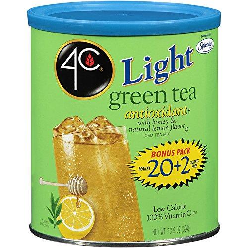 4C Light Green Tea Iced Tea Mix 22 qt Pack of 3