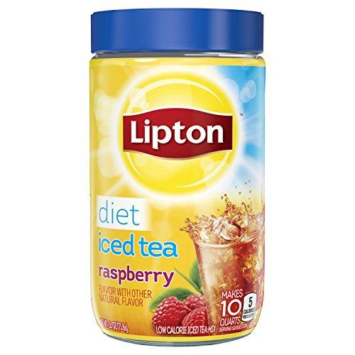 Lipton Iced Tea Mix Diet Raspberry 10 Quart Pack of 4