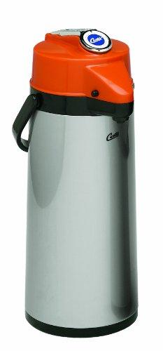 Wilbur Curtis Thermal Dispenser Air Pot 22L SS Body Glass Liner Lever Pump Decaf - Commercial Airpot Pourpot Beverage Dispenser - TLXA2201G000D Each