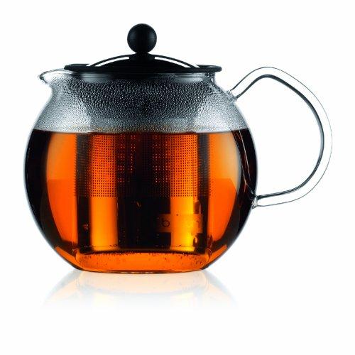 Bodum ASSAM Teapot Glass Teapot with Stainless Steel Filter 34 Ounce