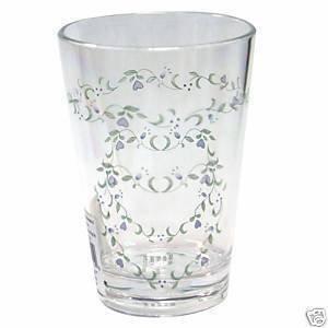 Corelle Country Cottage Acrylic 8oz Juice Glass Set of 6