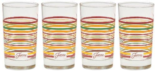 Fiesta Tangerine Stripe 7-Ounce Juice Glass Set of 4