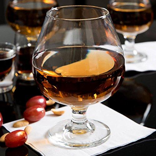 SET of 4 Libbey 3708 Embassy 175 oz Brandy Glass w Signature Party Picks