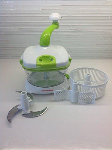 Manual Master Food Processor Food Chopper Slicer Salad Maker Ez Speedy Greens, Shabbat