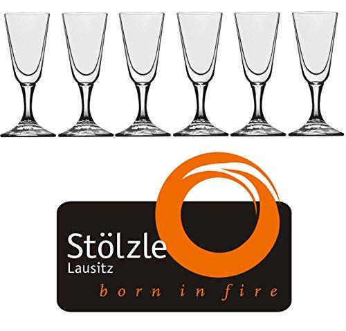 Stölzle Lausitz Crystal Cordial Liquor Shot Glasses 1 Ounce 4 Tall Set of 6