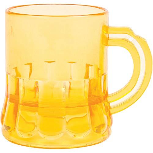 6X Pack Beer Mug Shot Glass 3oz Plastic Glass for Oktoberfest St Patricks Day Birthday and Theme Parties