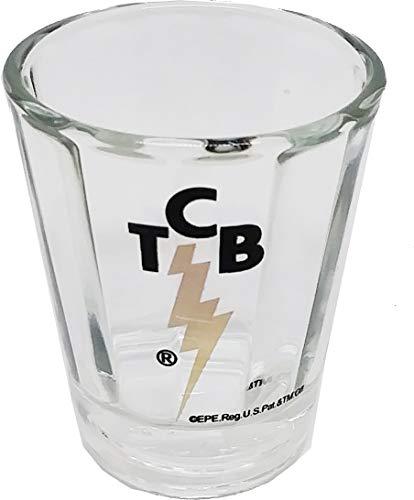 Cultural Exchange Elvis Presley TCB Optic Shot Glass Pack of 2 - Clear - 3 oz