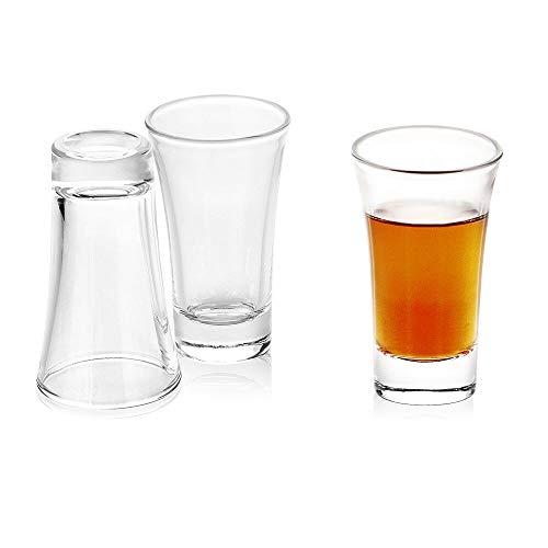 Enindel Shot Glasses 3-Pack Heavy Base Shot Glass Set 2 OZ