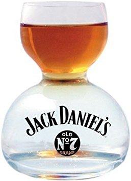 Jack Daniels Chaser Jigger Double Bubble Shot Glass - 3 Oz