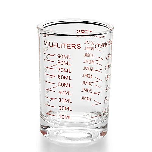 Measuring Cup Shot Glass 3 Ounce90ML Liquid Heavy Glass 1