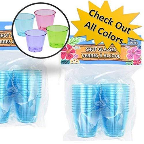 TopNotch Outlet Disposable Shot Glasses - Shooter Cups - Plastic Shot Glasses - 3 Pack 72 Blue Mini Party Cups - Plastic Shot Cups - Neon Shot Glasses