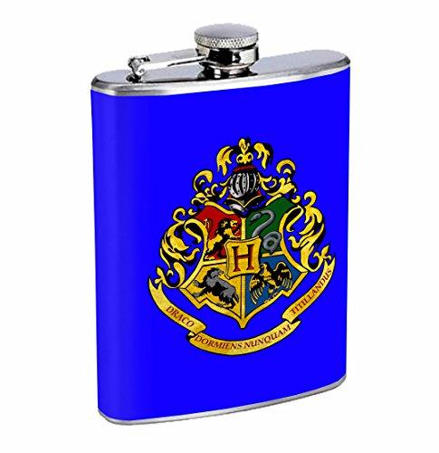 Hogwarts Crest Magic Potter 8oz Stainless Steel Flask Drinking Whiskey