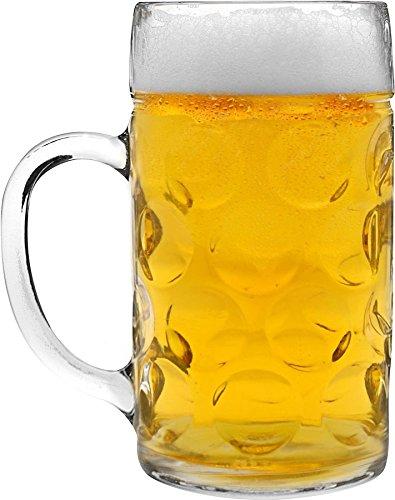 Rink Drink German Stein Beer Tankard  Glass - 2 Pints 40oz - Gift Boxed