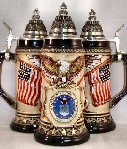 US Air Force Rustic German Beer Stein 75L USAF ONE Military Mug Made in Germany