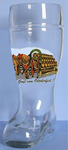 Oktoberfest German Glass Beer Boot 5 Liter Made in Europe Octoberfest Mug