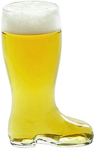 Stolzle Bierstiefel Half Liter Glass Beer Boots Set of 6