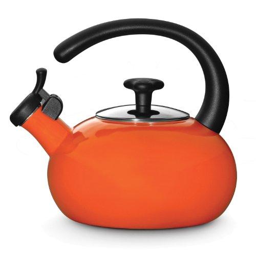 Rachael Ray Teakettles 1-1/2-quart Whistling, Orange