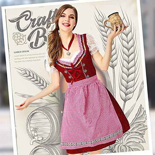 JJAIR Cosplay Costumes Traditional German Beer Girl Dress Oktoberfest Maid ServiceM