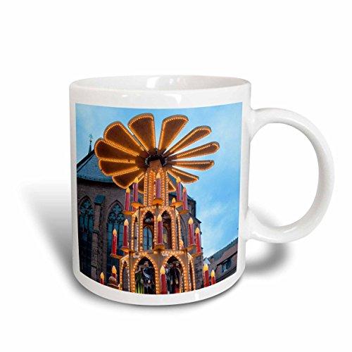 3dRose mug_188546_1 Pyramid Gluhwein Booth Christmas Market Heidelberg Germany Ceramic Mug 11-Ounce