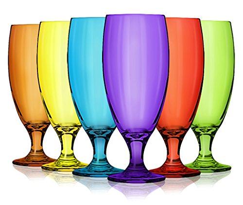 Libbey pilsner glasses Different Full color set of 6