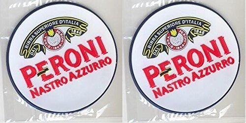 Peroni Nastro Azzurro Rubber Bar Coasters Spill Mats set of 2