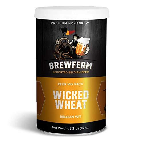 Brewferm Wicked Wheat Belgian Wit Belgian Homebrew Craft Beer Mix - makes 15 liters or 4 gallons of beer