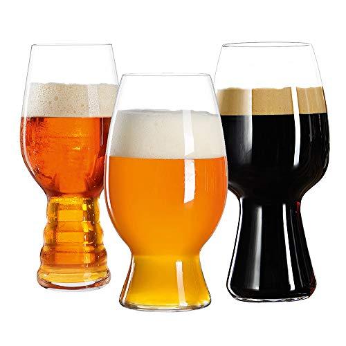 Spiegelau 4991693 Beer Glasses Bar Kit Craft Tasting Mugs Set of 3 Clear