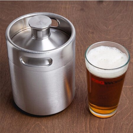 Brand New 2L64oz Home Fashion Stainless Steel Beer Bottle Barrels Beer Keg Beer Growler Homebrew Wine Pot Barware For Party