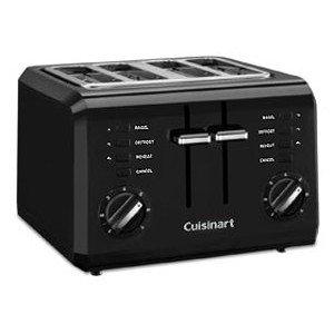 Cuisinart Cpt-142bk 4-slice Compact Toaster-black