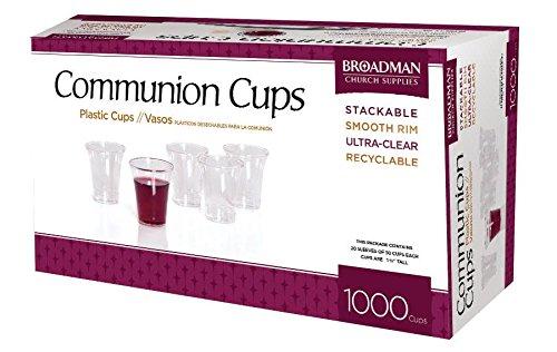 Broadman Church Supplies 1000 Plastic Communion Cups