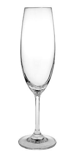 Anchor Hocking Vienna Glass Champagne Flutes 8 oz Set of 4