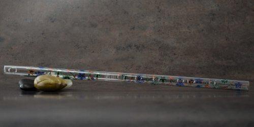 Hall Crystal Flute 11705 - Inline Glass Flute in G - Taj Mahal