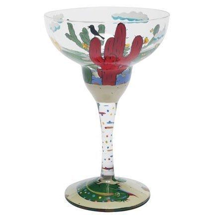 Lolita Margarita Glass Red Cactus Retired - Wine Martini New Love MRG-5580Q