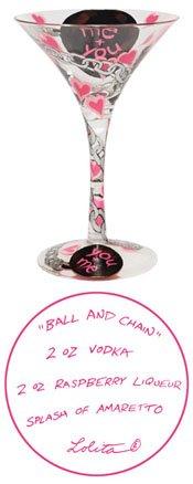 Lolita Martini Glass Ball Chain Retired - Wine Martini New Love GLS4-5585S