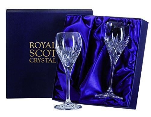Royal Scot Crystal Highland Set of 2 Crystal Port Sherry Glasses