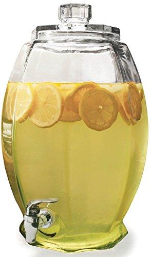 Circleware Cranston Huge Glass Beverage Drink Dispenser 3 gallon Clear
