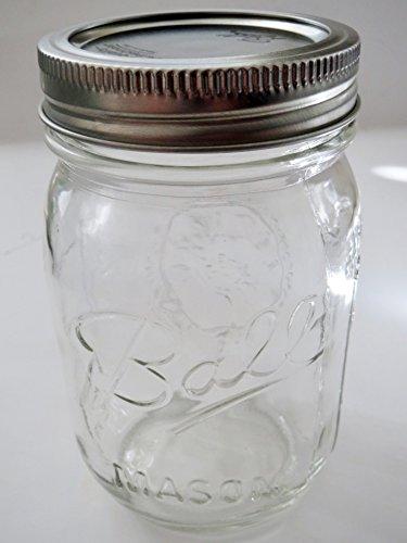 Ball Mason Jar-16 oz Clear Glass Ball Heritage Collection-One Jar