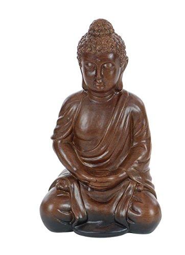 Deco 79 50735 Ceramic Meditating Buddha Sculpture 13 x 7 Brown