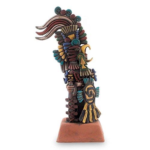 NOVICA 203970 Eagle Warrior Ceramic Sculpture Medium