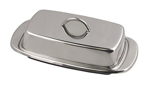 Fox Run Stainless Steel Butter Dish