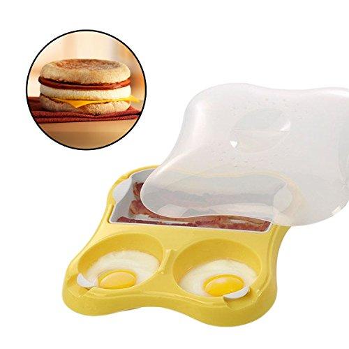 Progressive Microwave Eggs Bacon Breakfast Sandwich Maker Meat Sausage Pan