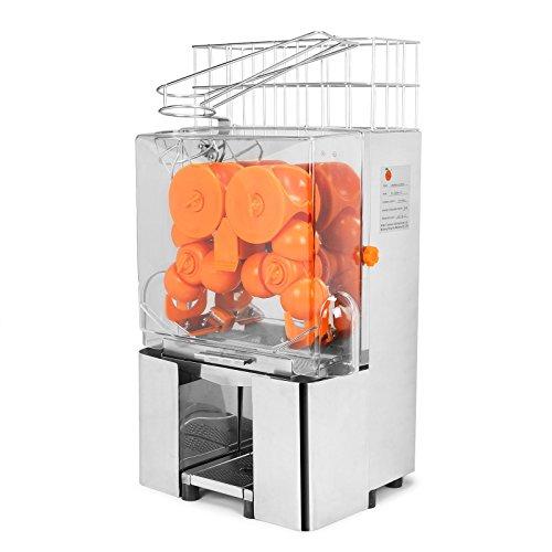 FoodKing Orange Juicer Orange Squeezer Machine Cuisinart Juice Extractor Citrus Lemon Lime Fruit Auto Feed Automatic Commercial Grade Stainless Steel Silver
