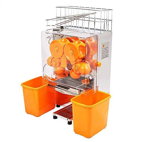 OrangeA Orange Juicer Orange Squeezer Machine Citrus Juicer Electric Fruit Juicer Machine Citrus Lemon Lime Automatic Auto Feed Commercial Stainless Steel Orange Plastic Tanks