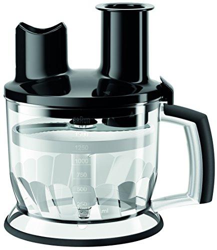 Braun MQ70BK Multiquick Hand Blender 6-Cup Food Processor Attachment Black