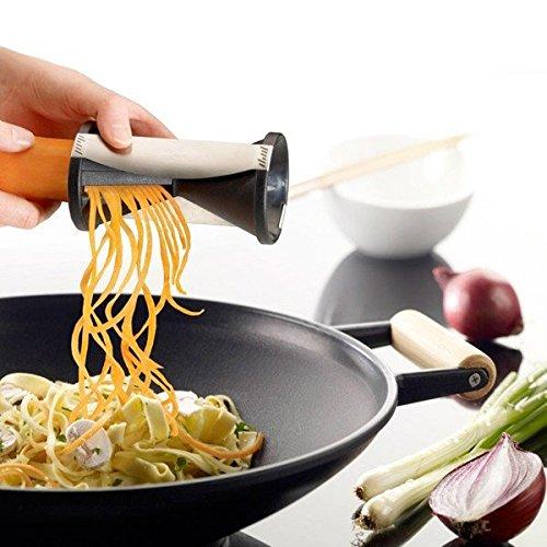 Premium Vegetable Spiralizer Spiral Slicer Zucchini Noodle Pasta Spaghetti Spirals Maker Julienne Cutter Peeler