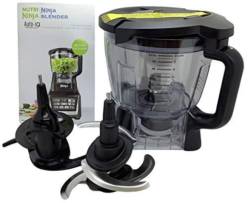 Ninja 64oz 8 Cup Food Processor Bowl Locking Lid Blade Kit Only for BL640 BL641 BL642 BL680 BL682 Blender Duo Auto iQ